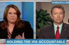 on cnn, sen. rand paul suggests irs has written policy about targeting people opposed to the president