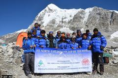 nine climbers from the north east scale mt everest
